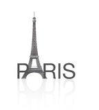 TOUR EIFFEL, PARIS. Vectors of European monumental cities Stock Photos