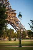 Tour Eiffel, Paris. View of Tour Eiffel from the garden Stock Photo