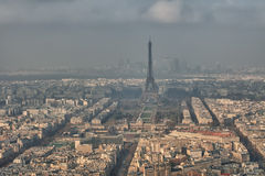 Tour Eiffel and paris winter view Royalty Free Stock Images
