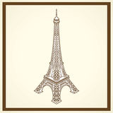 Tour eiffel postcard Royalty Free Stock Image