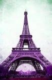 Tour Eiffel - rétro carte postale dénommée Image stock