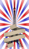 Tour eiffel ribbon Stock Photography