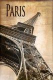Tour Eiffel, style de vintage image stock