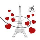 Tour Eiffel sur le blanc Photographie stock