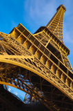 Tour Eiffel. Eiffel Tower from angle below Royalty Free Stock Photo