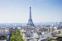 Tour Eiffel. The Eiffel Tower. View from the Arc de Triomphe Royalty Free Stock Image