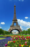 Tour Eiffel. View at Tour Eiffel in Paris royalty free stock photos