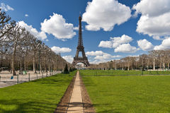 Tour Eiffel view in spring Stock Image