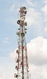 Tour en acier de télécommunication Images libres de droits