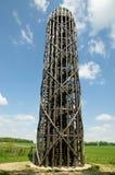 Tour en bois de surveillance près de Hermanice, République Tchèque images libres de droits