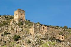 Tour en pierre antique chez Castifao en Corse photographie stock