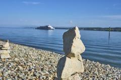 Tour en pierre sur Pebble Beach photo stock