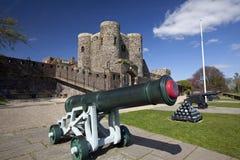 Tour et canons de Ypres de château de Rye image libre de droits