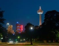 Tour et casino de Skylon dans les chutes du Niagara photo libre de droits