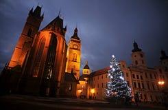 Tour et cathédrale blanches de l'esprit de St Photo libre de droits