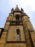 Tour et flèche d'église Photo libre de droits
