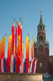 Tour et indicateurs de Moscou Kremlin photo libre de droits
