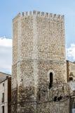 Tour et porte de la défense à la ville de Teruel Image libre de droits