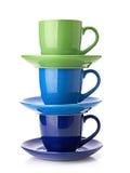 Tour faite à partir des tasses multicolores Photos libres de droits