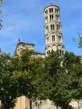 Tour Fenestrelle. Uzés ( France ). View of the Fenestrelle Tower at Uzès, Gard ( France Stock Image