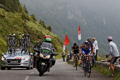 Tour of France actions Stock Image
