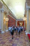 Tour group visiting the gallery of the Patriotic war of 1812 in Stock Image