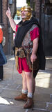 Tour Guide as Roman Soldier in Chester the county city of Cheshire in England stock photography