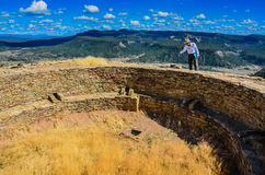 Tour Guide - Chimney Rock National Monument - Colorado royalty free stock images