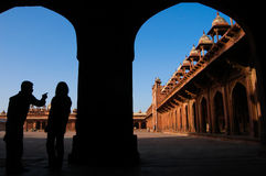 Tour Guide in India Royalty Free Stock Photography