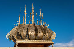 Tour Hassan golden decorations Rabat Morocco Stock Images
