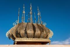 Tour Hassan golden decorations Rabat Morocco Stock Images