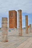 Tour Hassan tower in Rabat Stock Image
