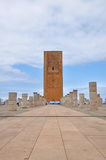 Tour Hassan tower in Rabat Stock Images