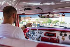 Tour Havana In A Vintage Cuban Taxi stock images