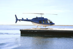 Tour helicopter, Great Barrier Reef Royalty Free Stock Images