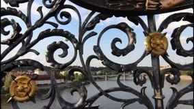 Tour of historic Prague stock video footage