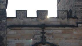 Tour of historic Prague stock footage