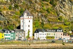 Tour historique de ville dans Sankt Goarshausen, Allemagne photo stock