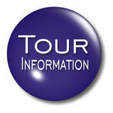 Tour Information Button Orb sign Stock Image