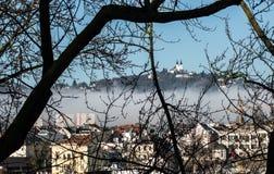 Tour jumelle à Linz Image stock