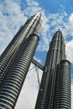 Tour jumelle de gratte-ciel Photo libre de droits