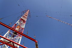 Tour Liblice, la construction la plus élevée d'émetteur radioélectrique dans la République Tchèque Photos stock