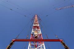 Tour Liblice, la construction la plus élevée d'émetteur radioélectrique dans la République Tchèque Images stock