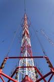 Tour Liblice, la construction la plus élevée d'émetteur radioélectrique dans la République Tchèque Photographie stock libre de droits