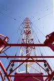 Tour Liblice, la construction la plus élevée d'émetteur radioélectrique dans la République Tchèque Image libre de droits