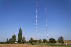 Tour Liblice, la construction la plus élevée d'émetteur radioélectrique dans la République Tchèque Photo stock