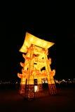 tour lightful de lanterne chinoise de festival de celebra Photos stock