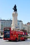 Tour of Lisbon. Tourbus sightseeing tour of Lisbon with Lisbon Sightseeing Royalty Free Stock Photos