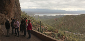 A Tour at the Lower Cliff Dwelling at Tonto National Monument Stock Photos