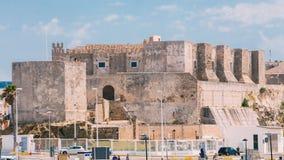 Tour médiévale antique de château à Tarifa, Andalousie Images stock